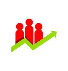 Business people finance logo vector