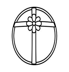 gift box ribbon parcel surprise linear vector image