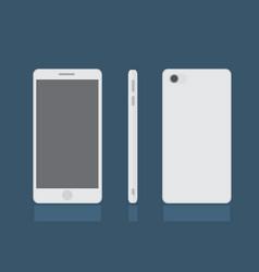 realistic modern smart phone set mock up vector image