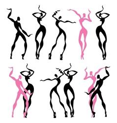 Abstract dancing figures vector image