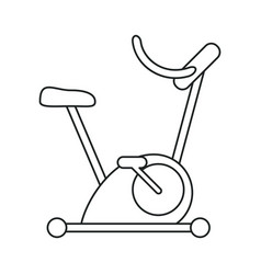 Bicycle static exercise training outline vector