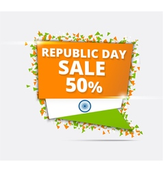 Indian Independence Day Sale Tricolor banner vector image vector image