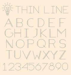 thin line alphabet vector image vector image