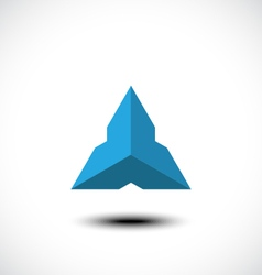 Triangle Abstract icon vector image