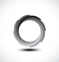 Abstract infinite loop icon vector