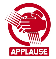 applause sign vector image vector image