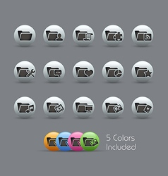 Folder Icons 2 Pearly Series vector image vector image