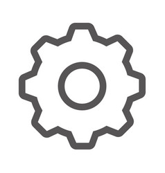 grayscale contour with gear wheel vector image