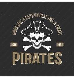 Logo of pirates print vector