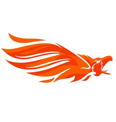 Phoenix logo eagle vector image