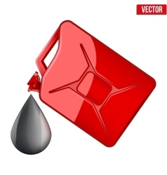 Symbol of petroleum black drop and jerrycan vector image vector image
