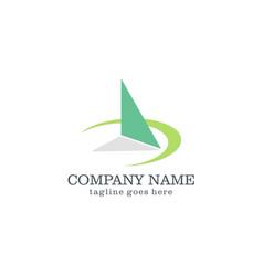 triangle 3d arrow logo design vector image vector image