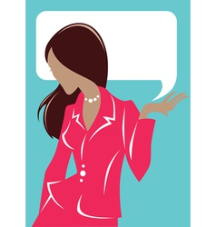 business woman cards vector image vector image