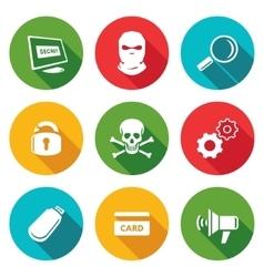 Hacker Icons Set vector image vector image