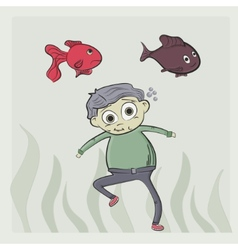 kid swim vector image vector image