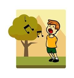 Kids Activity Sing vector image