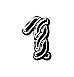 Number 1 celtic font norse medieval ornament abc vector