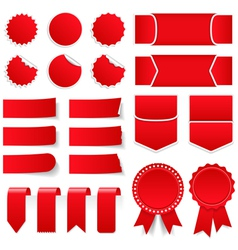 Red Price Tags and Stickers vector image vector image