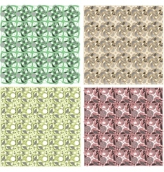 set of arabesque pattern frame border vector image vector image