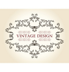 vector vintage royal old frame ornament decor text vector image vector image