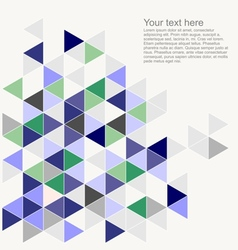Wrapping blue triangle grey document template vector