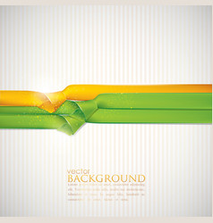 abstract background with multicolored ribbons vector image