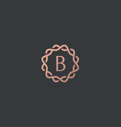 Abstract linear monogram letter b logo icon design vector