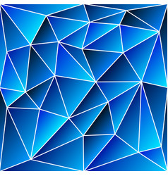 Abstract vitrage - triangular shades of blue grid vector
