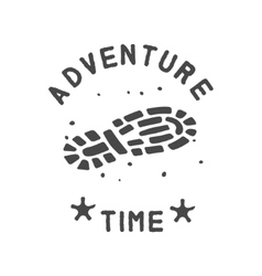 adventure theme emblem vector image