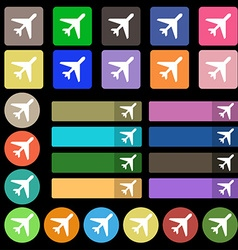 airplane icon sign Set from twenty seven vector image