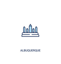Albuquerque concept 2 colored icon simple line vector