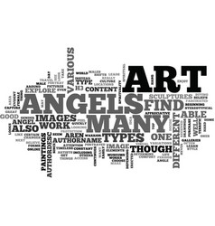 Angels and demons text word cloud concept vector
