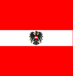 Austrian flag and coat of arms vector