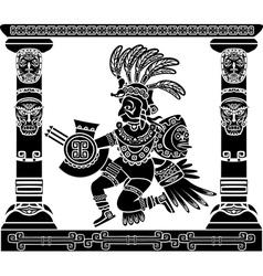 Aztec god Quetzalcoatl vector