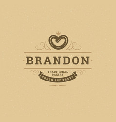 Bakery logo or badge vintage vector