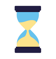 business clock hourglass vector image