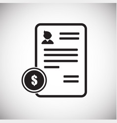 business contract on white background vector image