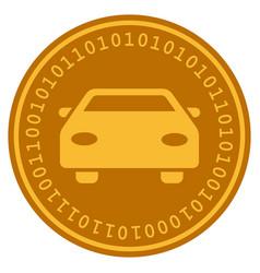 car digital coin vector image