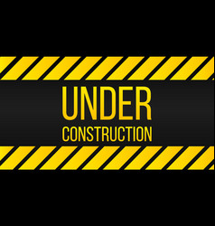 caution under construction sign danger label vector image