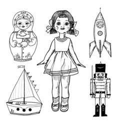 children toy for children doll tin soldier vector image