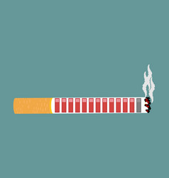 cigarette and health resource retro video game vector image