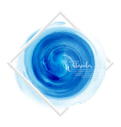 circle blue watercolor brush design over white vector image