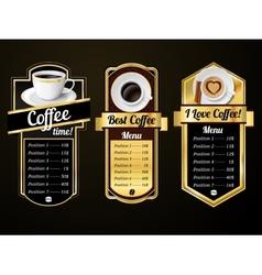 Coffee design templates vector image