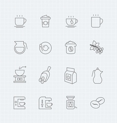 Coffee thin line symbol icon vector