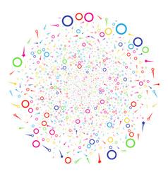 confetti stars decoration globula vector image