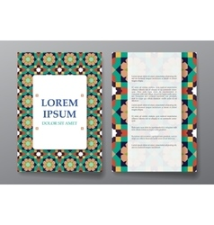 Cover brochure design Arabic traditional vector image vector image