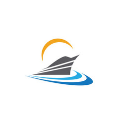 Cruise ship logo template icon design vector