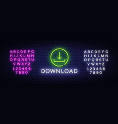 download neon text design template vector image