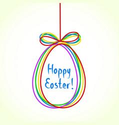 egg doodle background happy ester greeting card vector image