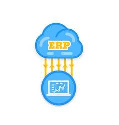 erp software solutions vector image
